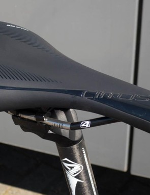 The 4ZA saddle wasn't quite as supportive as we'd have liked...