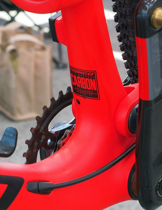 The new Norco Revolver will be Shimano Di2-ready, complete with wiring ports and an internal battery mount