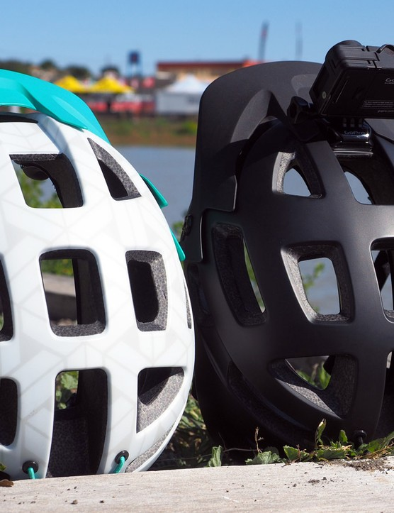 Giant has outfitted its new Rail trail helmet with not only lots of huge vents throughout the shell but also very deep internal channeling that will help move that air around on your head