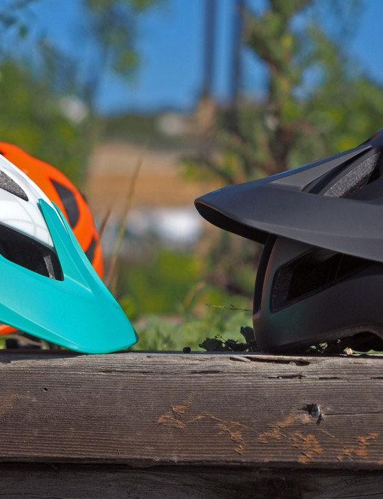 The visor on the new Giant Rail has a huge range of adjustability. Cleverly, the visor's actual pivot point sits behind the locking hardware so there's less chance of the knobs falling out over time