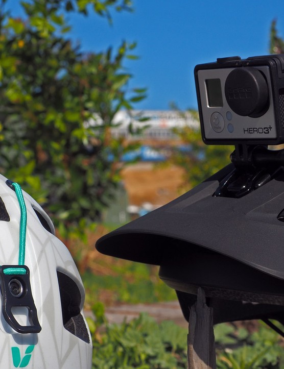 The Giant Rail trail helmet also has an optional GoPro mount and built-in goggle strap anchors. The GoPro mount is situated quite low, too, which Giant says makes for a better video perspective than typical locations atop the shell