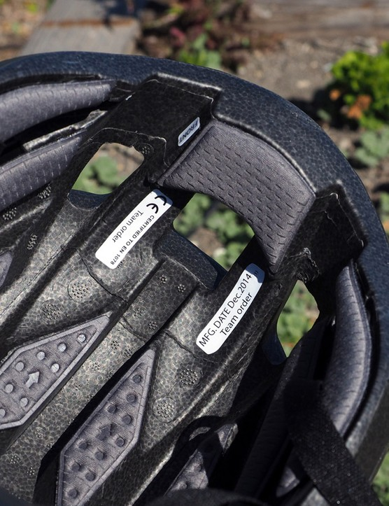 Deep internal channeling and big entry ports up front promise good ventilation on Giant's new Rivet aero road helmet