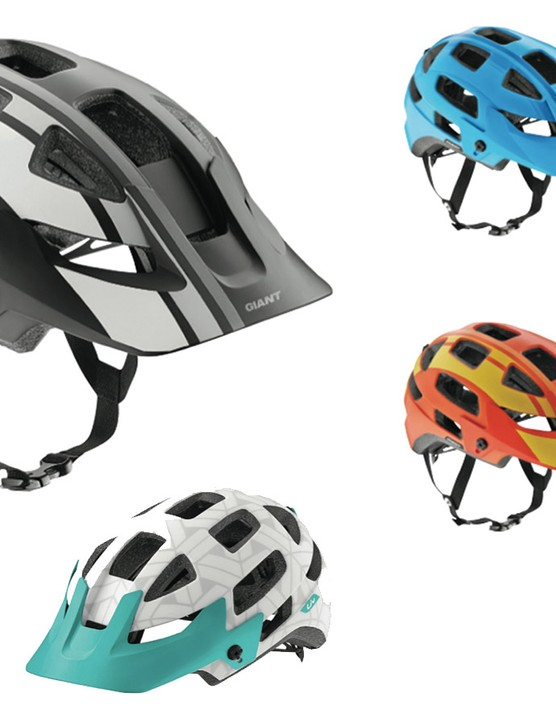 Color options for the new Giant Rail/Liv Infinita trail helmet
