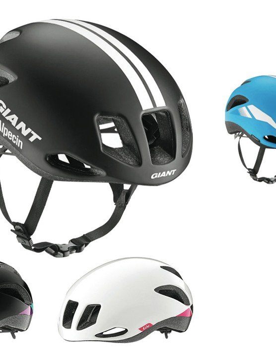 The Giant Rivet/Liv Attacca aero road helmet will be offered in six colors in total