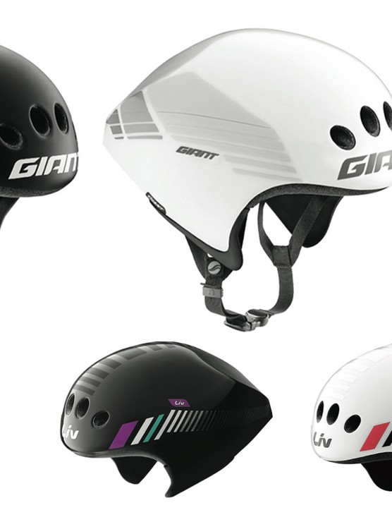 Giant is going after the time trial/triathlon helmet model with the new Rivet TT/Attacca TT