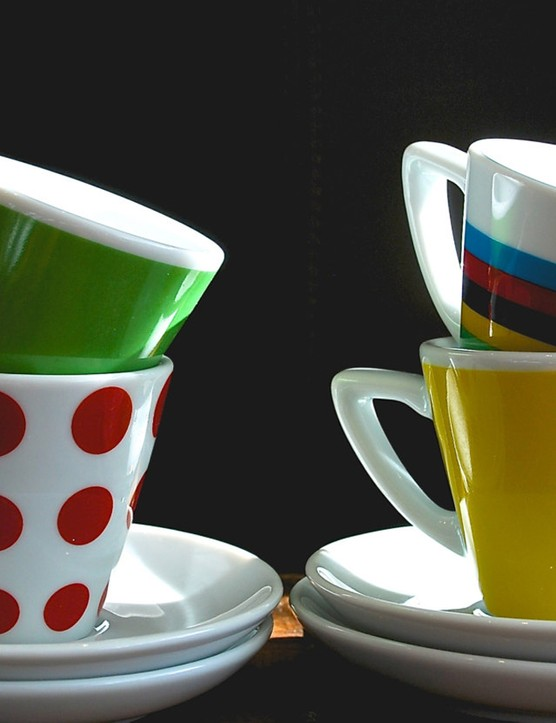Why not enjoy your morning or late night cup of joe out of a TdF themed mug?