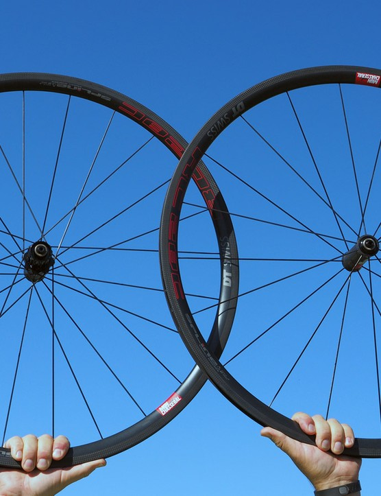 Another debut from DT Swiss are the new Mon Chasseral road wheels, which despite being carbon clinchers still post an ultralight claimed weight of 1,250g per pair