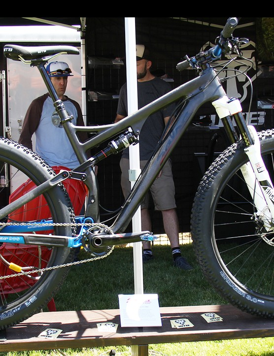 This Salsa prototype was on display at the WTB booth at this year's Sea Otter expo