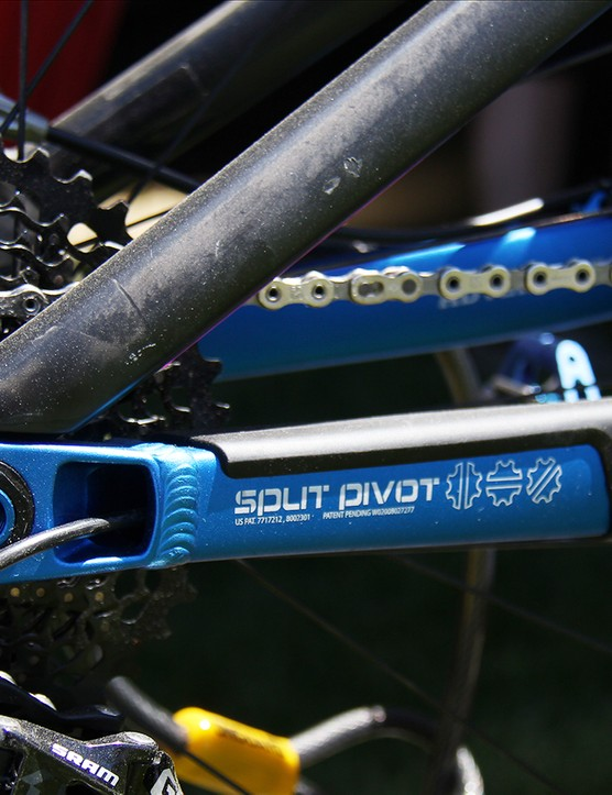 Salsa uses the Split Pivot suspension system for all of its full-suspension models