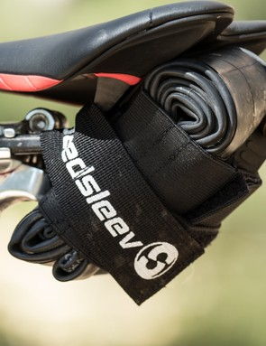 Although the small Seatsleeve is designed for a road tube, we've been using one with a thin 29er tube and large CO2 gun