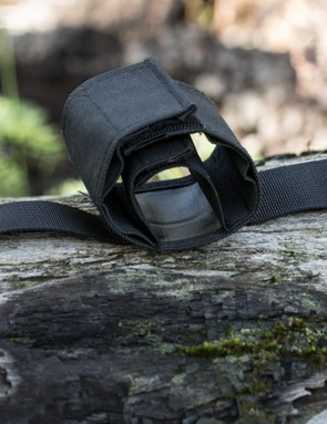 The partially rolled out Seatsleeve – all the straps and stitches are well over-built for the application