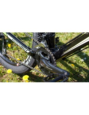 Shimano's Deore 2x10 chainset is solid and dependable