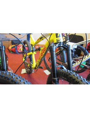 Our Lapierrre Zesty test rig included DT's OPM ODL fork; X 313 shock and Spline 1 EX wheels