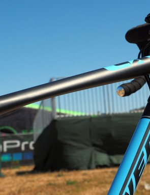 The flattened top tube underside should help alleviate the pain of shouldering