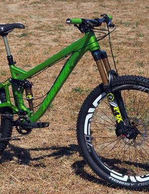 Turner has freshened up the popular Burner trail bike with a new aluminum tubeset, shorter seat tubes, and a more shapely tapered head tube