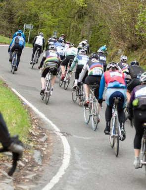 Avoid surging up hills to burn fewer matches