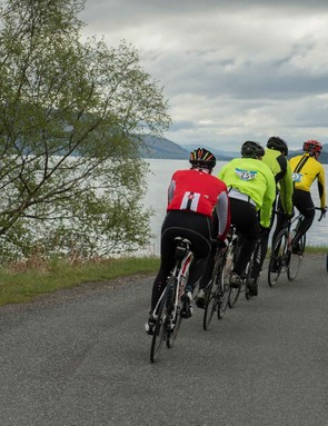 Riding in a group of a similar ability is an aid to pacing