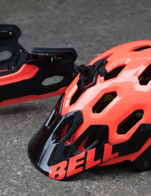 Bell Super 2R with chin guard removed