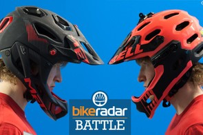 The Bell Super 2R and MET Parachute helmets go head to head