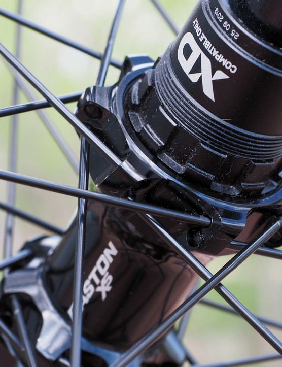 Think what you will about straight-pull spokes but Easton at least includes five spares with each wheelset. All the spokes are the same length, too