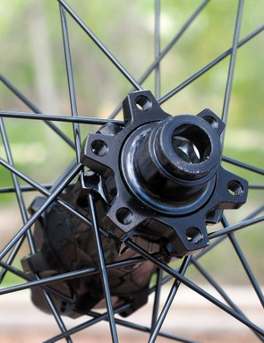 The Easton X5 hubs are compatible with six-bolt disc brake rotors only