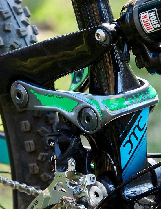 The Split Pivot suspension eats the biggest hits with ease but can choke badly if you don't pedal smoothly
