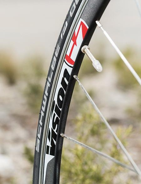 Vision wheels and Schwalbe Durano tyres form a strong pairing
