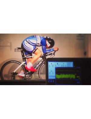 Ben Day (formerly with UnitedHealthcare) puts in some time in the FASTER wind tunnel