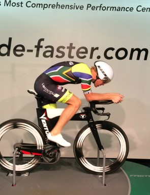 DaybyDay athlete Kyle Buckingham gets his fit and position locked down (in case you're wondering, the bike is a Ventum)