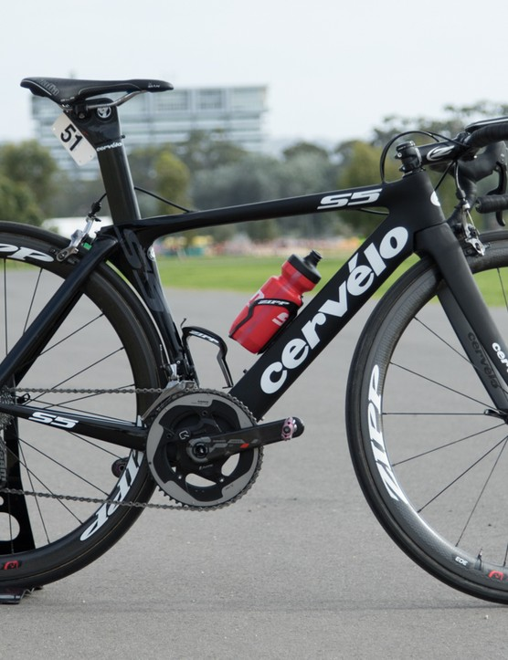 Tiffany Cromwell went from racing a women's-specific Specialized bike last year, to a unisex Cervelo for 2015