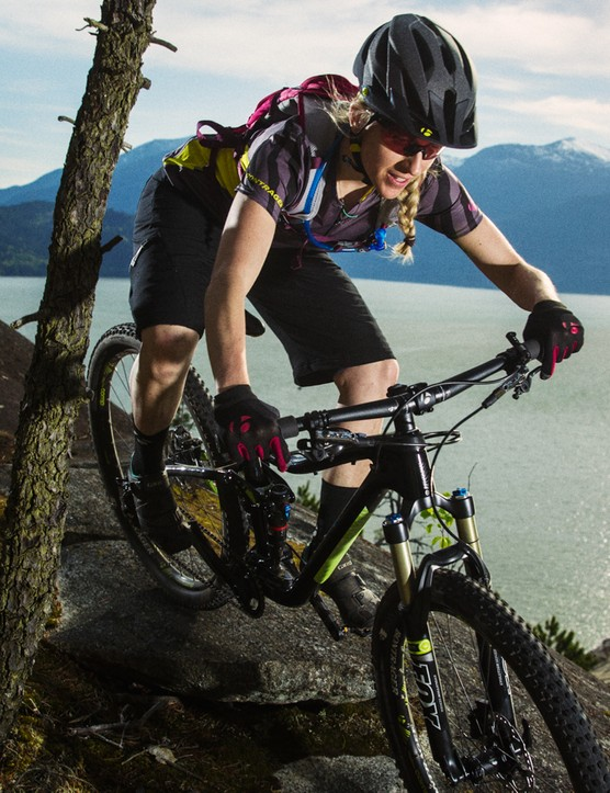 The Trek Lush comes with a custom suspension tune. It's interesting to note that, like a large majority of women's mountain bike designs, this model is only available in alloy. Trek, like Yeti, supports a number of world beating female racers who use unisex bikes