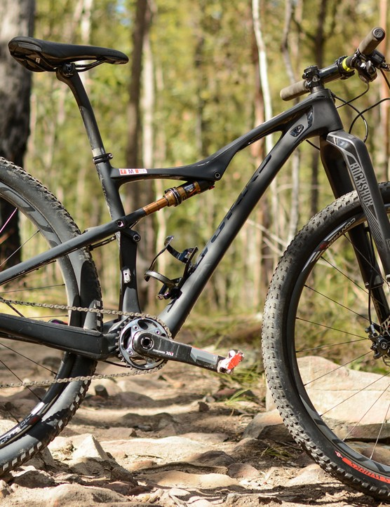 The Specialized women's mountain bike range is particularly interesting in this way, with three different models, the Fate, the Era (pictured) and the Rumor, that allow shorter riders to enjoy the benefit of larger 29in wheels