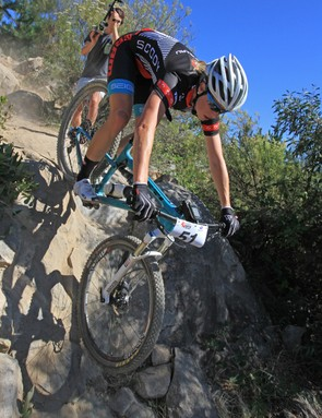 """Yeti Cycles' Chris Conroy agrees that the contact points need to be set up to accommodate the body dimensions of a given rider, male or female. He also points out that the suspension setup is crucial: """"If it's dialled, the bike feels solid and predictable."""" (Peta Mullens pictured)"""