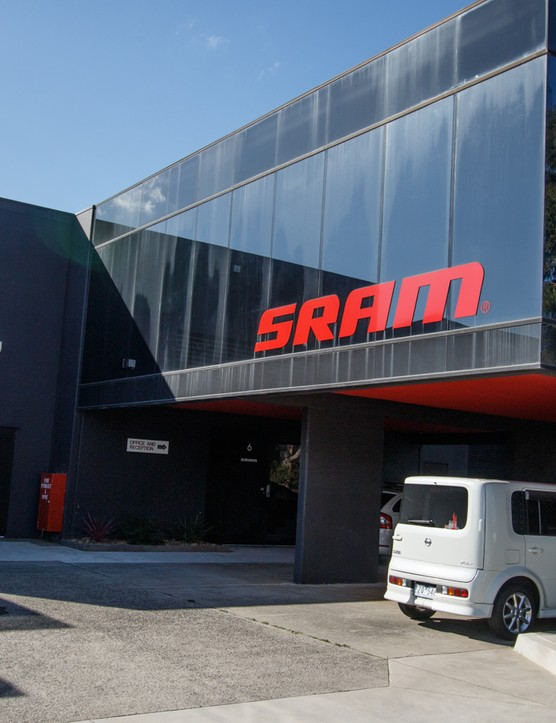 Not designed for public access, SRAM Australia's offices sit deep within a Victorian industrial estate not far from Melbourne's best riding. Rob Eva, SRAM's general manager for Australia, New Zealand and South Africa, took us for a tour of the place