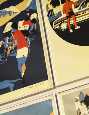 There's plenty of cycling artwork at the show