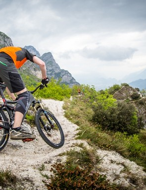 The trails of Riva del Garda proved a suitable playground to try out the new Deore XT