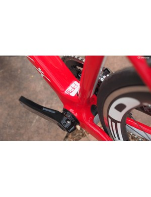 The beefy bottom bracket area and wide down tube contribute to that lateral stiffness