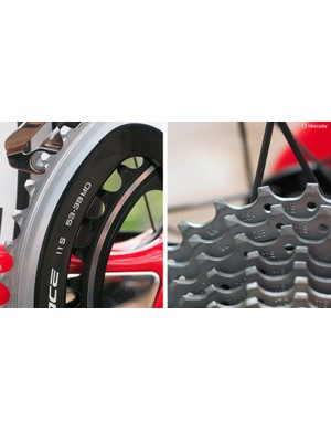 The Podium was designed as a straight-ahead race machine, and the gearing is specced accordingly