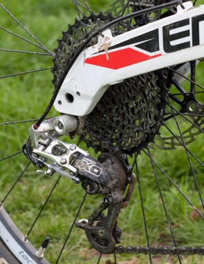 The 142x12mm rear end will also happily accept a 135mm wheel with the addition of some affordable adaptors