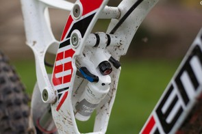 All of the shock adjustments are easy to get to, even while riding