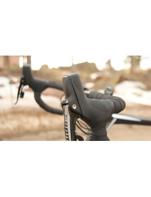 SRAM's Hydro R levers offer big handles to grab onto in addition to their hydraulic properties