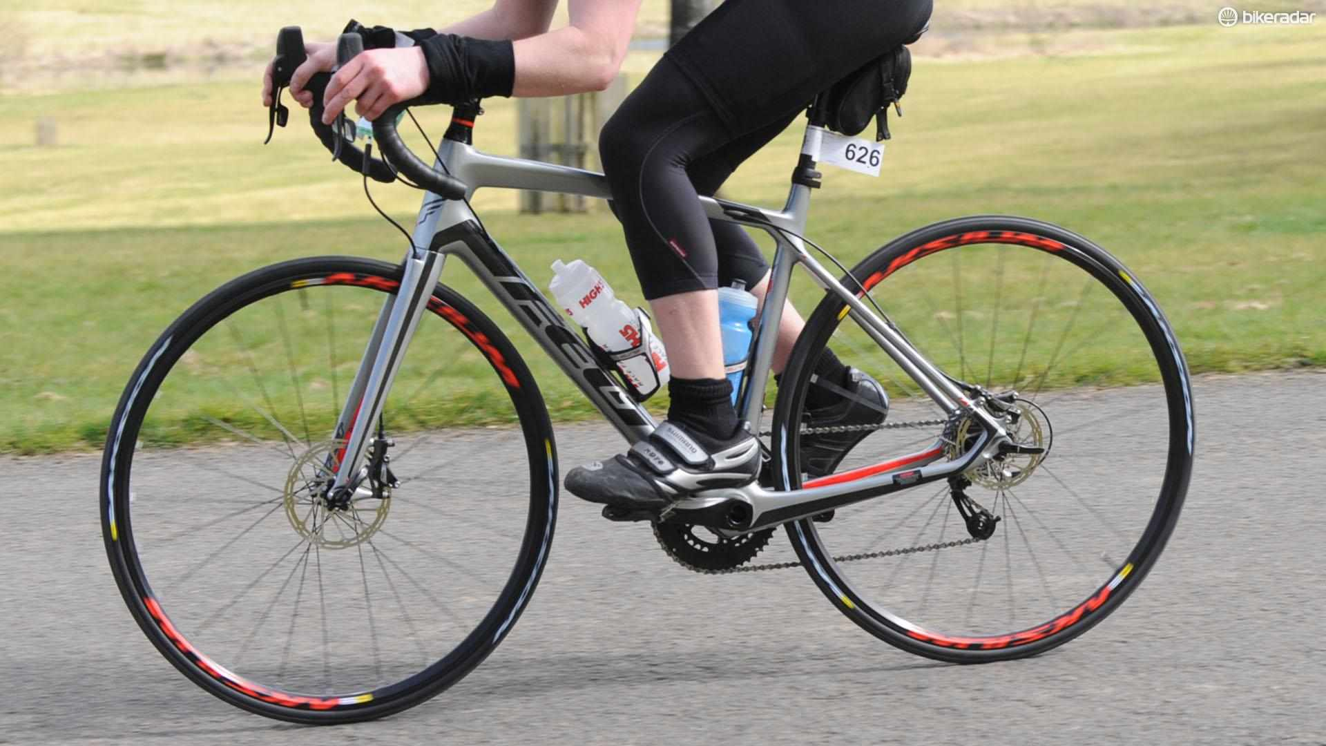 Felt's Z4 Disc is offers SRAM Rival hydraulics and WiFli gearing