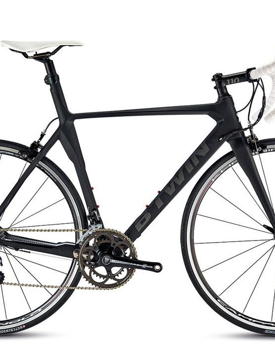 B'Twin's Mach 740 Carbon road bike is certainly a quirky looking beast
