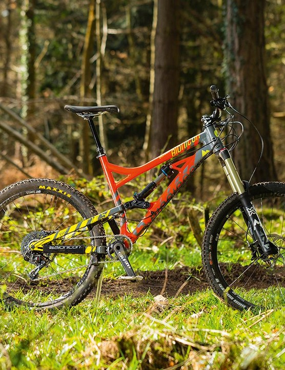 Bionicon's Edison EVO: take your pick from 180mm or 160mm travel options and 26in or 650b wheels