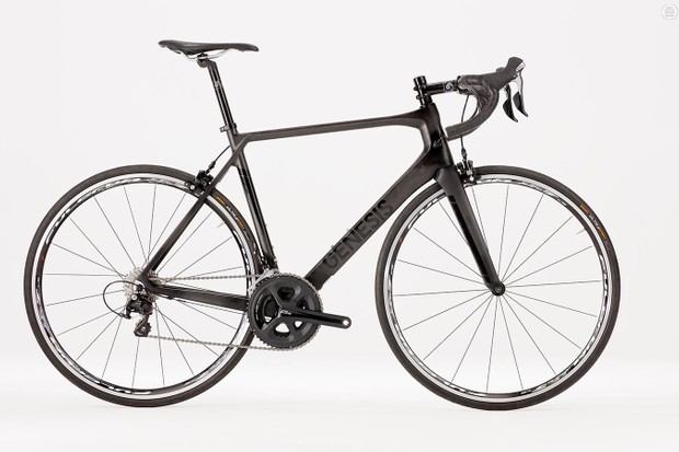 The Genesis Zero .3's stealthy black frameset is the real deal, as enjoyed by the Madison-Genesis team pros
