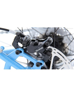 The Guide RS brakes are reliable and provide ample stopping power
