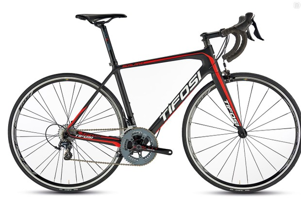 The Tifosi Scalare Ultegra is compact framed but a winningly roomy ride