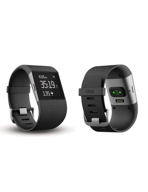 The FitBit Surge uses LEDs to measure heart rate without a chest strap