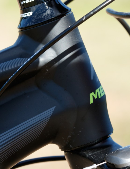 The Merida One-Twenty 7.500 offers a quality frame, but its straight-steerer head tube is one example of cost cutting that will limit future upgrade possibilities