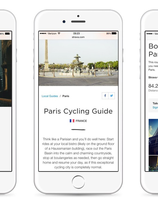 12 international cities including Paris are available on Strava Local